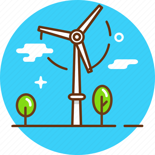 green energy, turbine tower, wind mill icon