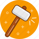 build, hammer, instrument, repair, tool icon