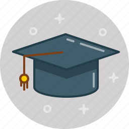 college, graduate, graduation, hat, prom, student, university icon
