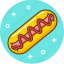 fast food, food, hot dog, junk, snack icon