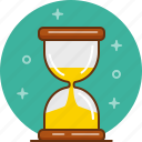 hourglass, minute, sand, sandglass, time, timer, wait icon