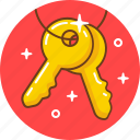 door, key, keys, lock, pad, security, unlock icon