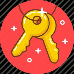 door, key, keys, lock, pad, security, unlock icon