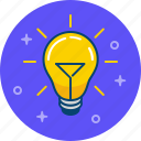 bright, idea, lamp, light, shine icon