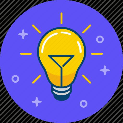 bright, idea, lamp, light, shine icon