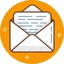 letter, mail, message, post, receive, send icon