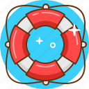 flotation ring, life saver, lifebuoy, lifebuoy ring, marine, swim icon