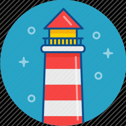 light, lighthouse, sea, tower icon