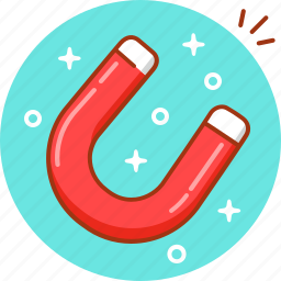 attract, attraction, magnet, magnetic, magnetism, tool icon