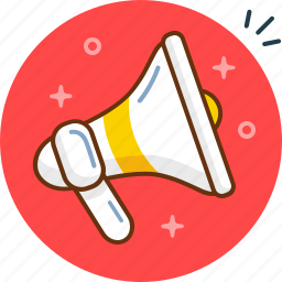 announcment, bullhorn, listen, loud, megaphone, speak, speaker icon