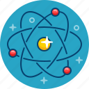 atom, core, molecula, neutron, particle, physics, proton icon