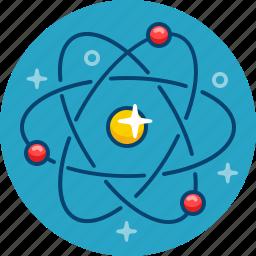 atom, core, molecula, neutron, particle, physics, proton icon