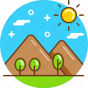 mount, nature, peak, tourism, travel icon