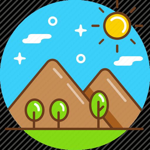 mount, nature, peak, tourism, travel icon