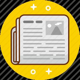information, news, newspaper, paper, press icon