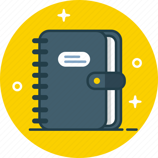 address book, agenda, contacts, copybook, notebook icon