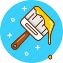 brush, decor, decoration, design, paint icon