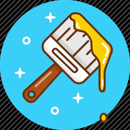 brush, decor, decoration, design, paint icon