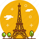 eiffel tower, france, paris, tower icon