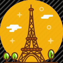 eiffel tower, france, paris, tower icon