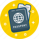 document, passport, personal, travel icon