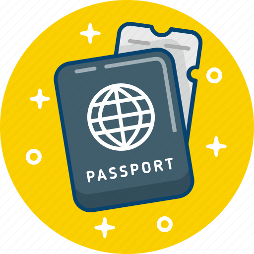 document, passport, personal, travel icon