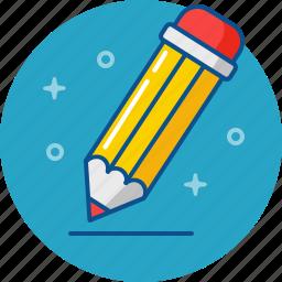 draw, edit, fill in, pencil, write icon