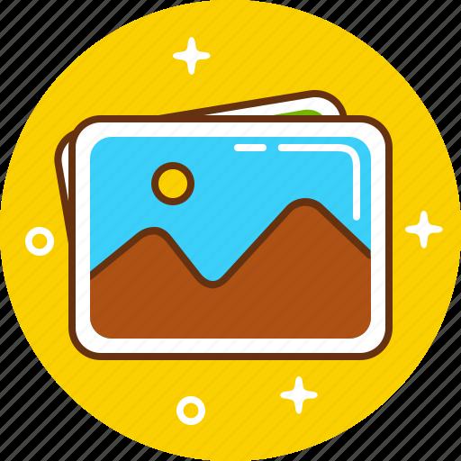 card, image, photo, postcard icon