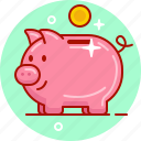 money, money box, penny bank, pig, piggy, piggy bank, save icon