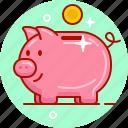 piggy bank, money, pig, penny bank, piggy, save, money box icon
