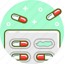 capsule, doctor, drug, medicine, pill, treatment icon
