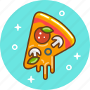 food, italian food, margarita, pizza icon