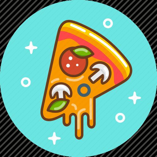 food, italian food, margarita, pizza icon