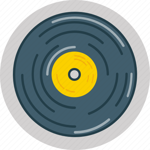 listen, music, plate, record, save icon