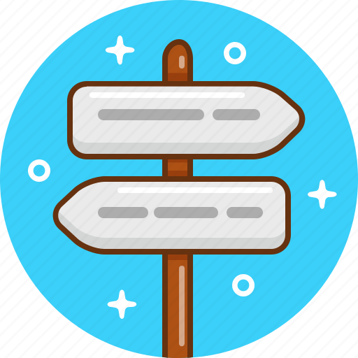 arrows, direction, pointer, stand, tourism icon