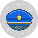 cap, hat, police, police hat, policeman icon