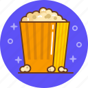 cinema, film, movie, popcorn, watch icon