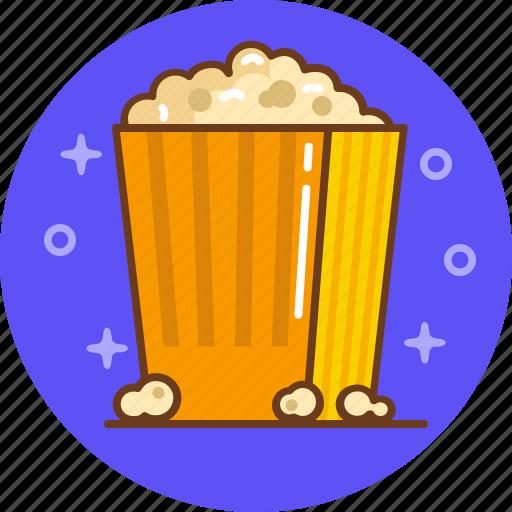 cinema, film, movie, popcorn, watch icon