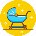 baby, child, childcare, maternity, nursery, pram icon