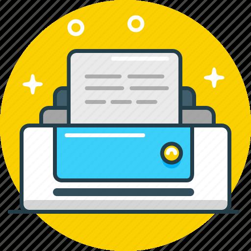 device, document, office, print, printer, publish, tool icon