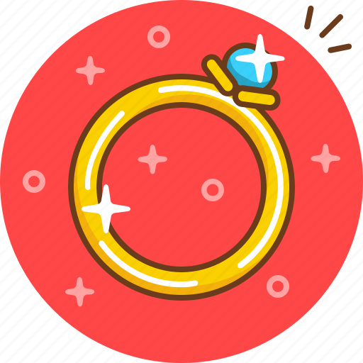 engagement, gift, jewelery, marriage, present, ring icon