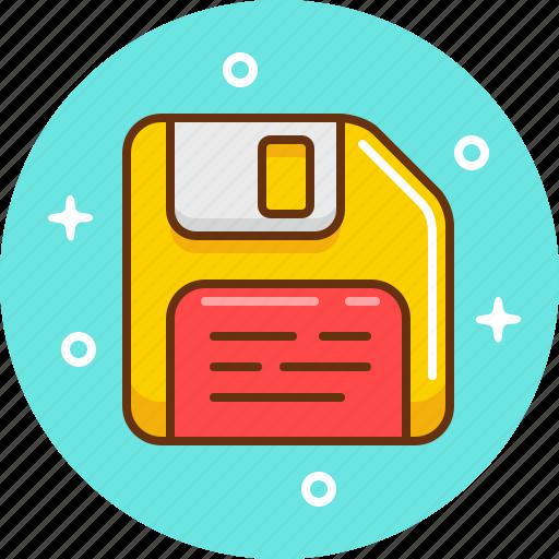 data, floppy, memory, save icon