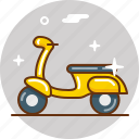 bike, motorbike, ride, scooter, transport, vehicle, vespa icon