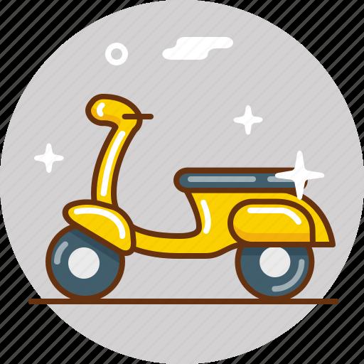 bike, motorbike, ride, scooter, transport, vehicle, vespa icon