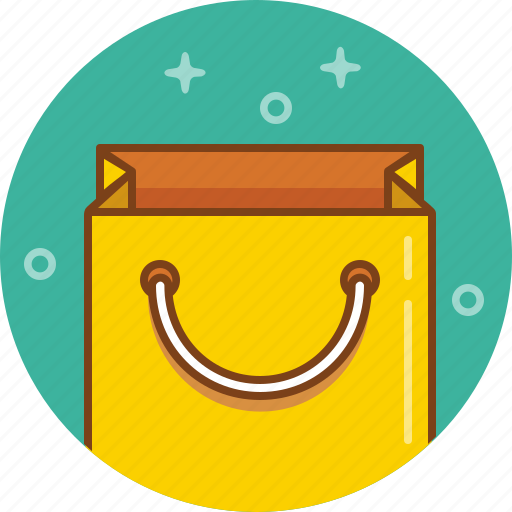 bag, gift, package, paper bag, present, purchase, shopping icon