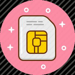 chip, data, micro, sim icon