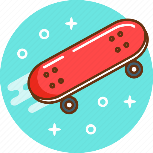 ride, skate, skateboard, sport, teenager icon