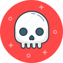 bone, dead, death, fear, skull icon