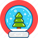 christmas, gift, present, season, snowball, souvenir, winter