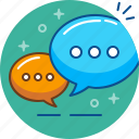 chat, conversation, dialogue, speak, speech icon